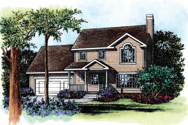 Traditional House Plan 66634 Elevation