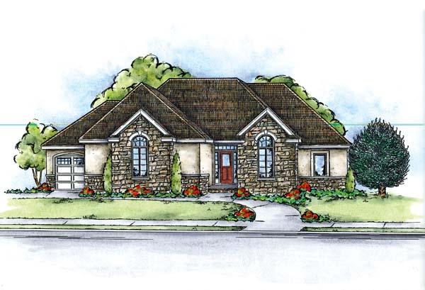 Craftsman European House Plan 66644 Elevation