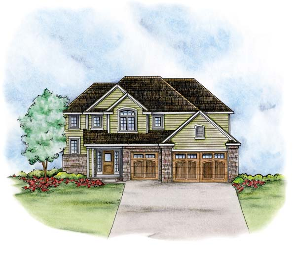 Traditional House Plan 66678 Elevation