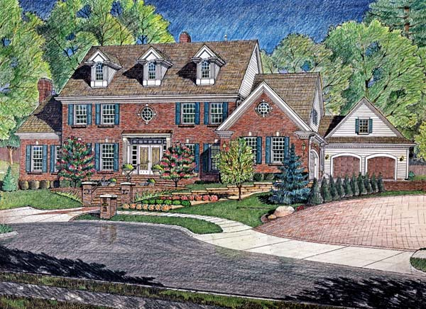 Colonial House Plan 66679 Elevation
