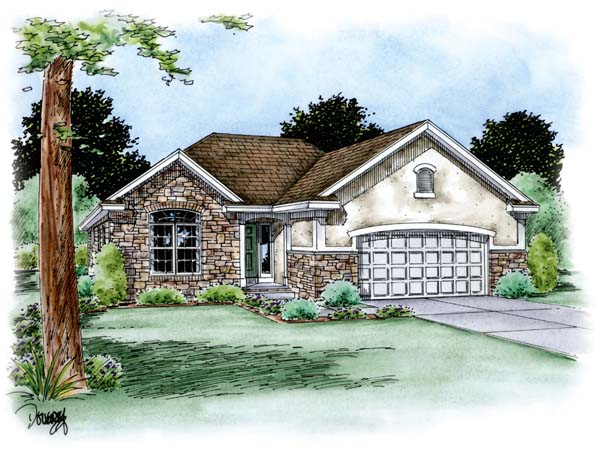 Traditional House Plan 66704 Elevation