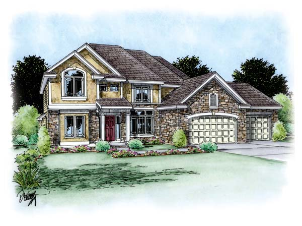 Traditional House Plan 66706 Elevation
