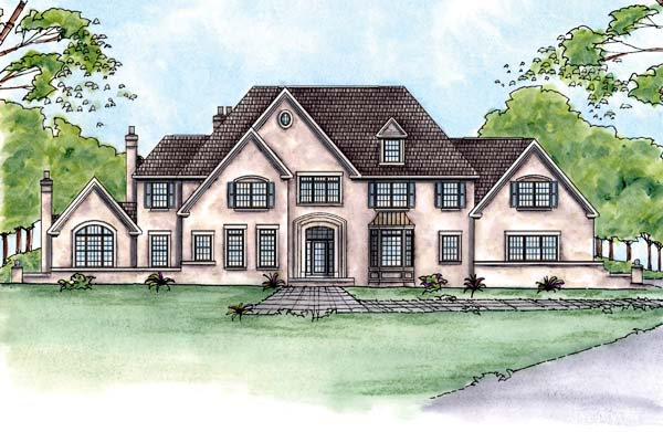 Colonial House Plan 66712 Elevation