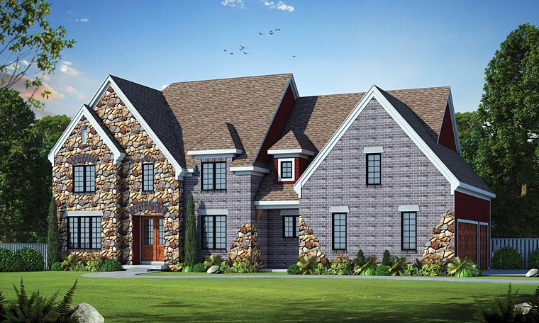Traditional Tudor House Plan 66727 Elevation