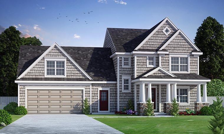 Colonial Country Southern Traditional House Plan 66730 Elevation