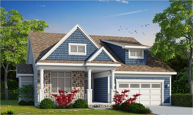 Cottage Country Craftsman House Plan 66733 Elevation