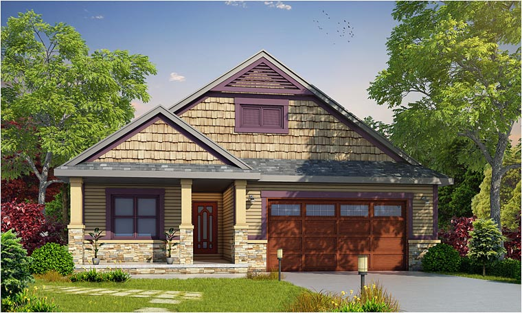 Cottage Country Craftsman House Plan 66734 Elevation