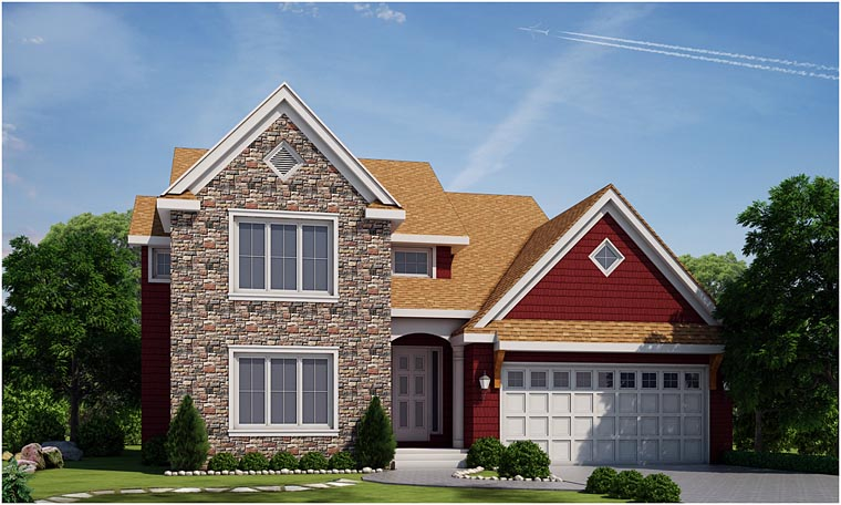 Country Craftsman House Plan 66736 Elevation