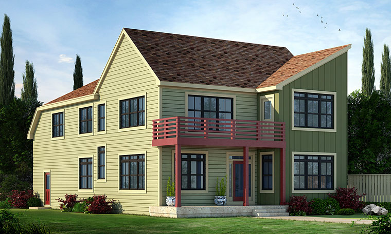 Contemporary Country Southern House Plan 66738 Elevation