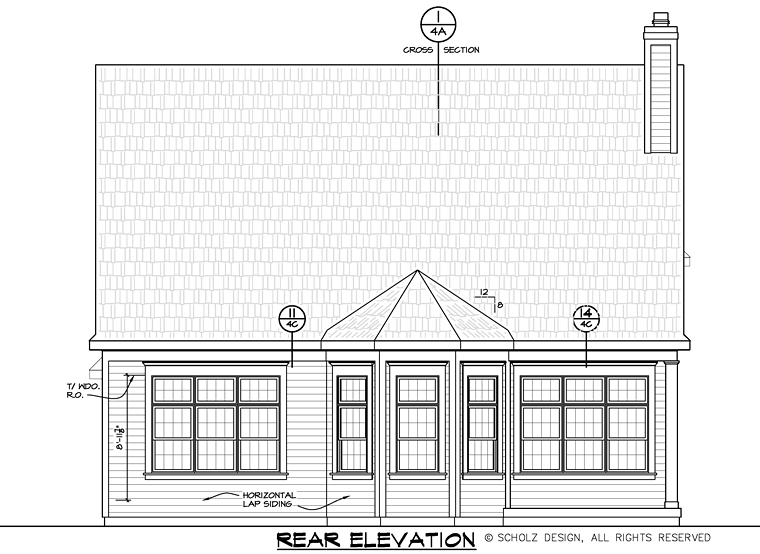Country Craftsman Traditional House Plan 66739 Rear Elevation