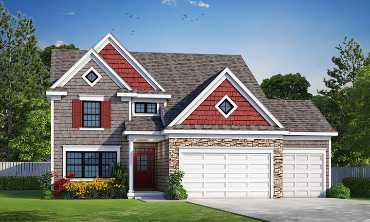 Craftsman Traditional House Plan 66742 Elevation