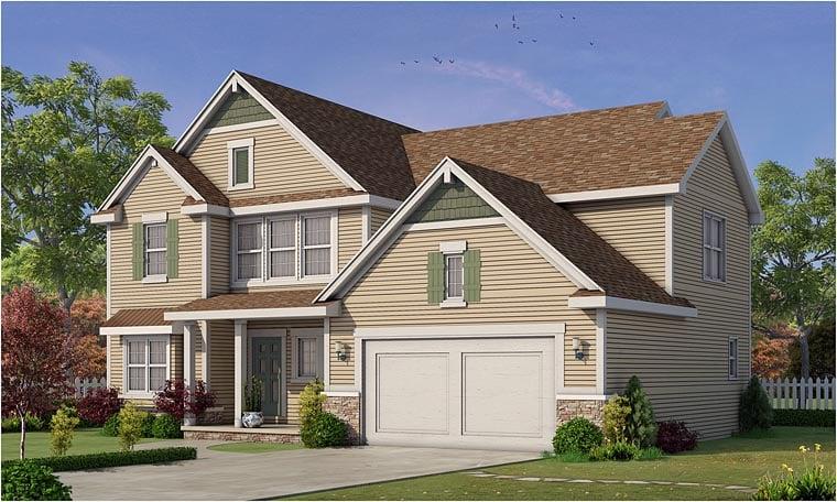 Craftsman Traditional House Plan 66747 Elevation