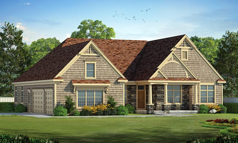 Cottage Country Craftsman House Plan 66751 Elevation