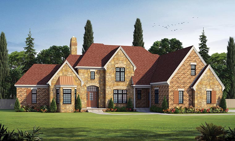 French Country Southern Traditional House Plan 66755 Elevation