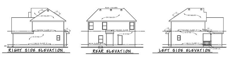 Country Southern Traditional House Plan 66760 Rear Elevation