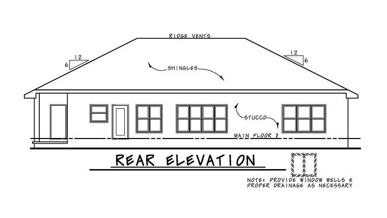 Italian Southwest Tuscan House Plan 66770 Rear Elevation