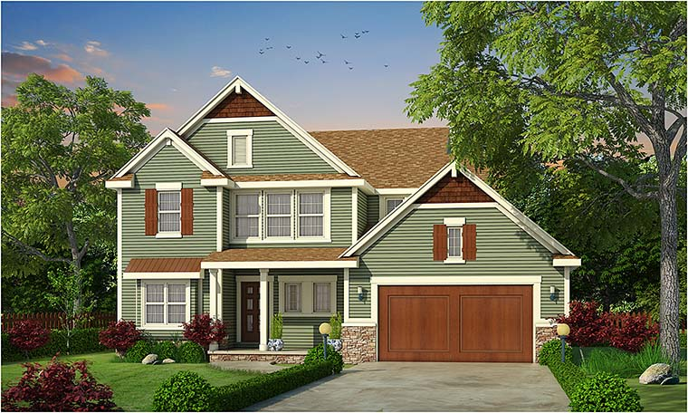 Cottage Country Craftsman Southern Traditional House Plan 66781 Elevation