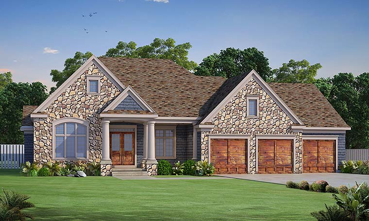 Country Craftsman Southern House Plan 66785 Elevation