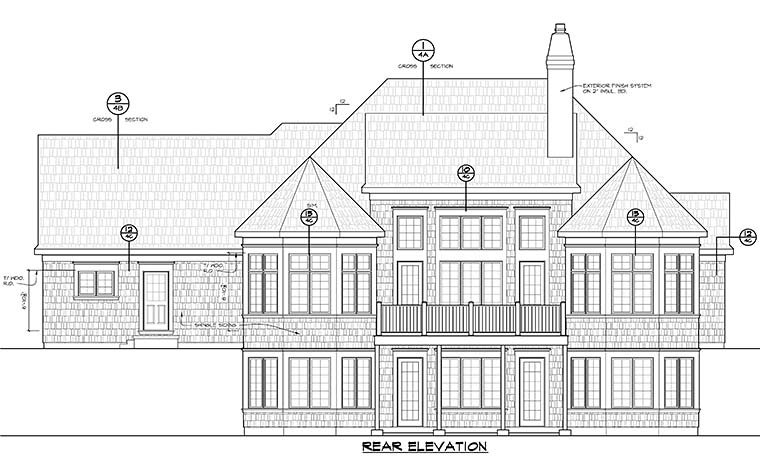 Country Craftsman Southern House Plan 66785 Rear Elevation