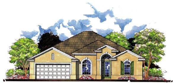 Florida Traditional House Plan 66828 Elevation