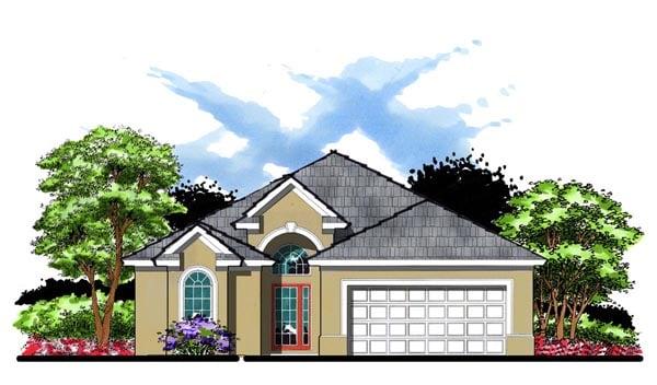 Florida Traditional House Plan 66836 Elevation