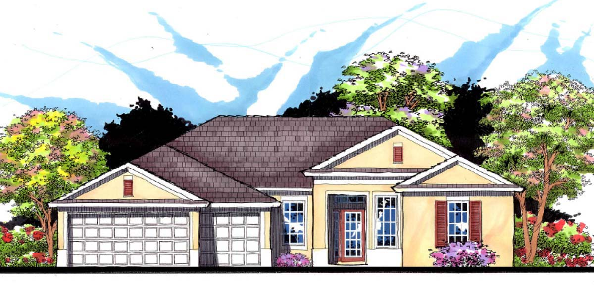 Please Click Here To See An Even Larger Picture. Contemporary Florida Ranch  Traditional House ...