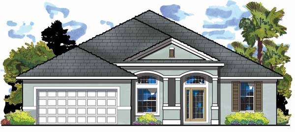 Traditional House Plan 66871 with 4 Beds, 3 Baths, 2 Car Garage Elevation