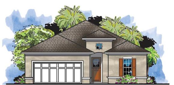 Traditional House Plan 66917 with 4 Beds, 2 Baths, 2 Car Garage Elevation