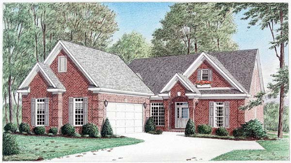 Traditional House Plan 67030 Elevation