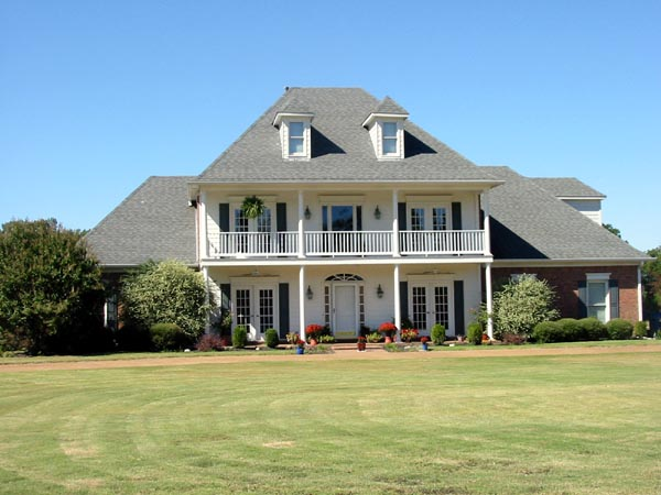 Colonial, Country, Southern House Plan 67039 with 4 Beds, 4 Baths, 2 Car Garage Picture 1