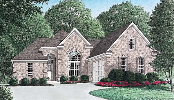 European Traditional House Plan 67042 Elevation