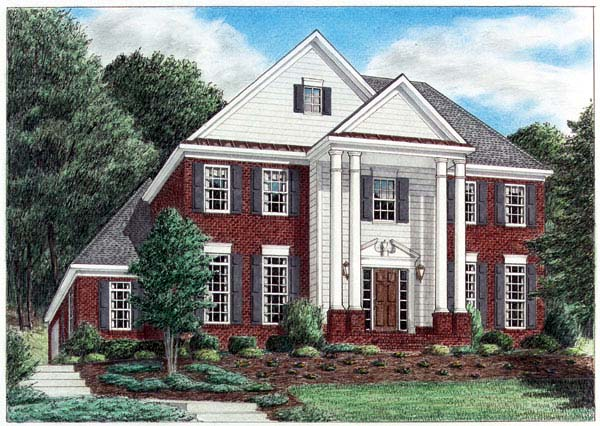 Colonial House Plan 67082 Elevation