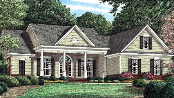 Country House Plan 67087 Elevation