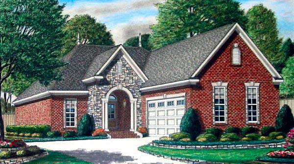 European House Plan 67101 Elevation