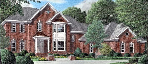 Colonial House Plan 67125 Elevation