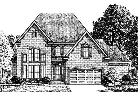 Traditional House Plan 67137 with 3 Beds, 3 Baths, 2 Car Garage Elevation