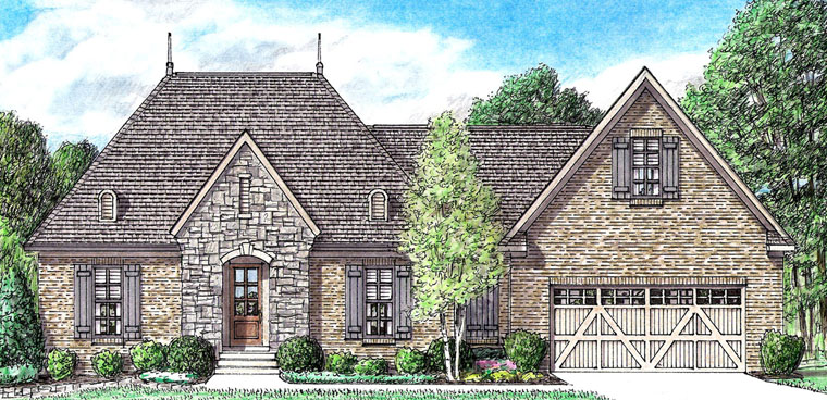 Country European French Country House Plan 67146 Elevation