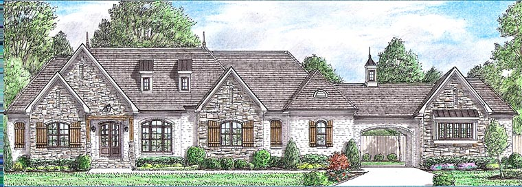 Country European French Country House Plan 67164 Elevation