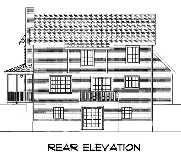 Farmhouse House Plan 67207 with 3 Beds, 3 Baths, 2 Car Garage Rear Elevation