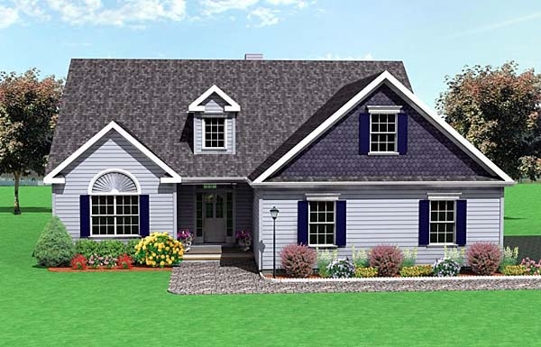 Traditional House Plan 67211 with 3 Beds, 3 Baths, 2 Car Garage Elevation