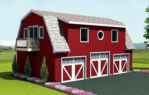 Farmhouse 3 Car Garage Plan 67275 Elevation