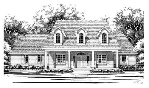 Cape Cod House Plan 67445 Elevation