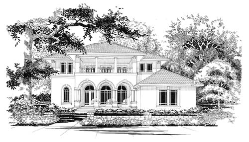 Mediterranean House Plan 67447 Elevation