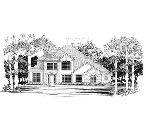 European House Plan 67452 with 4 Beds, 5 Baths, 3 Car Garage Elevation