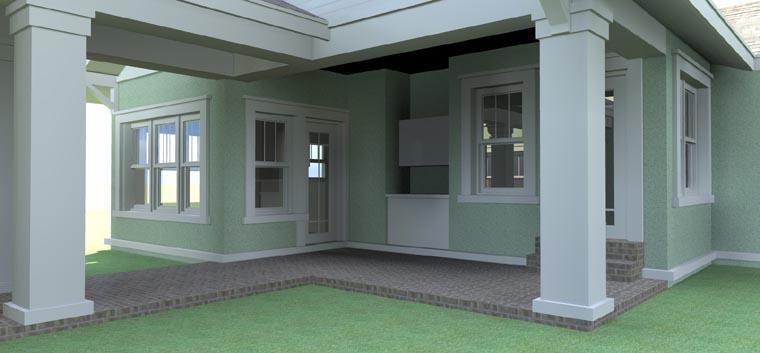 Bungalow House Plan 67500 Rear Elevation