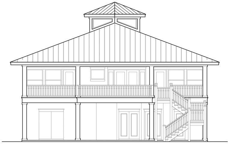 Contemporary House Plan 67511 Rear Elevation
