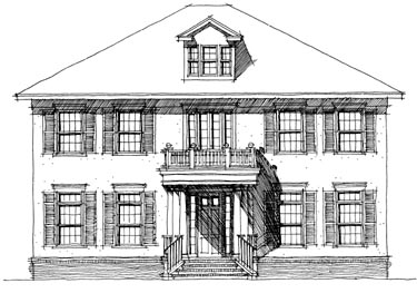 Colonial House Plan 67521 Elevation