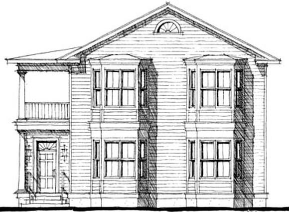 House Plan 67524 with 6 Beds, 6 Baths, 2 Car Garage Elevation