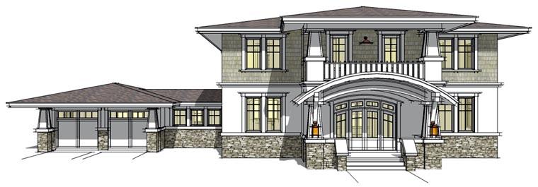 Prairie Style Southwest House Plan 67527 Elevation
