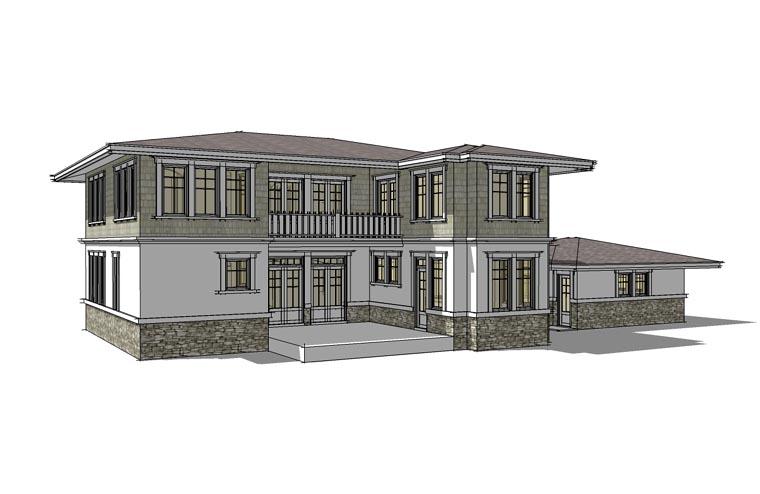 Prairie Style Southwest House Plan 67527 Rear Elevation